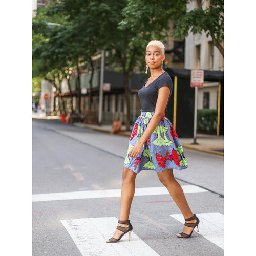 Mid length Ankara Skirt