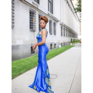 Blue Show Stopper Formal  Gown