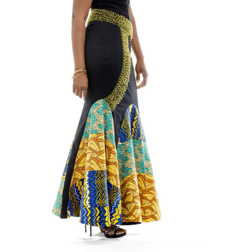 Ankara Beaded Elegance Skirt