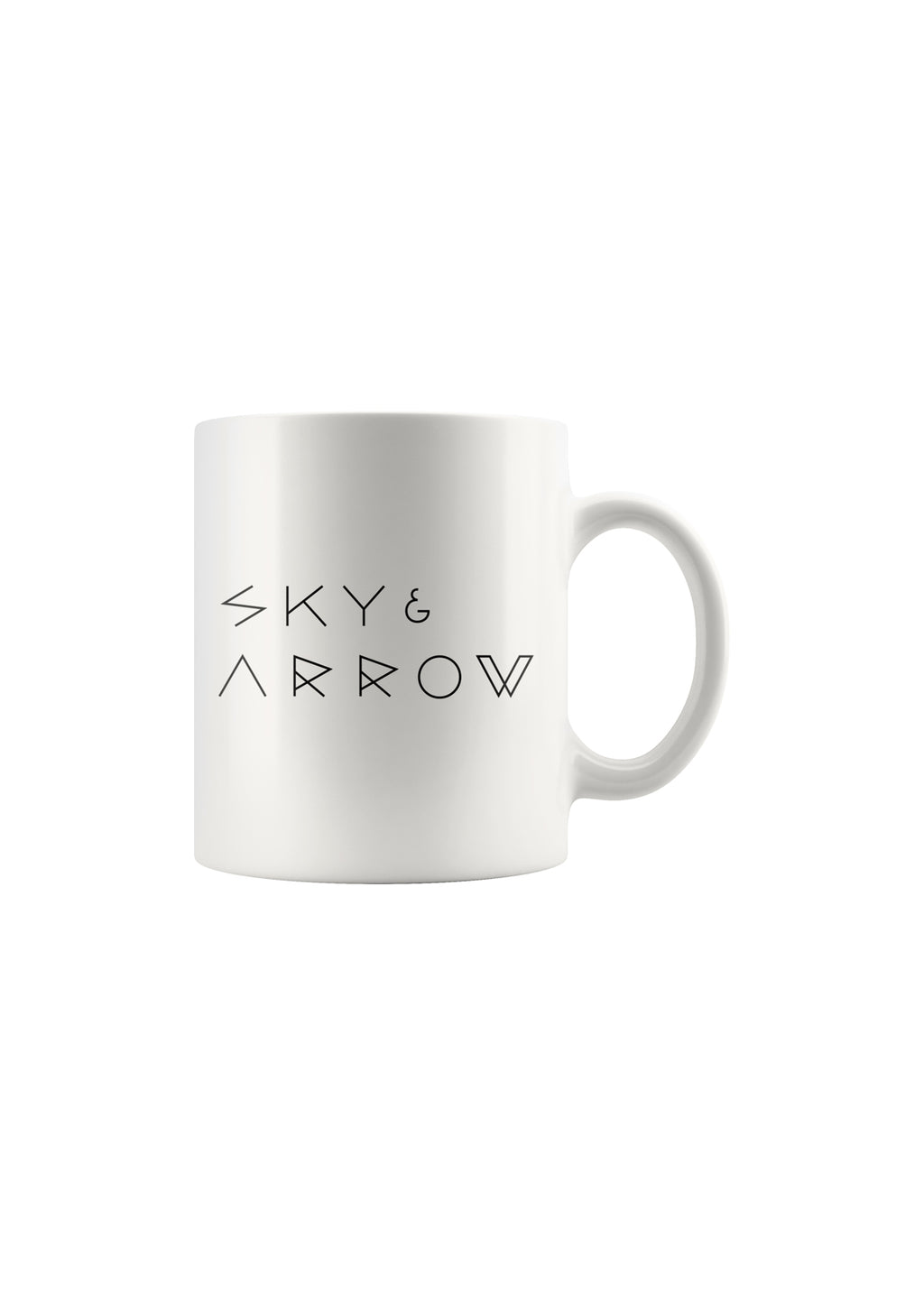 SKY AND ARROW COFFEE MUG 110z