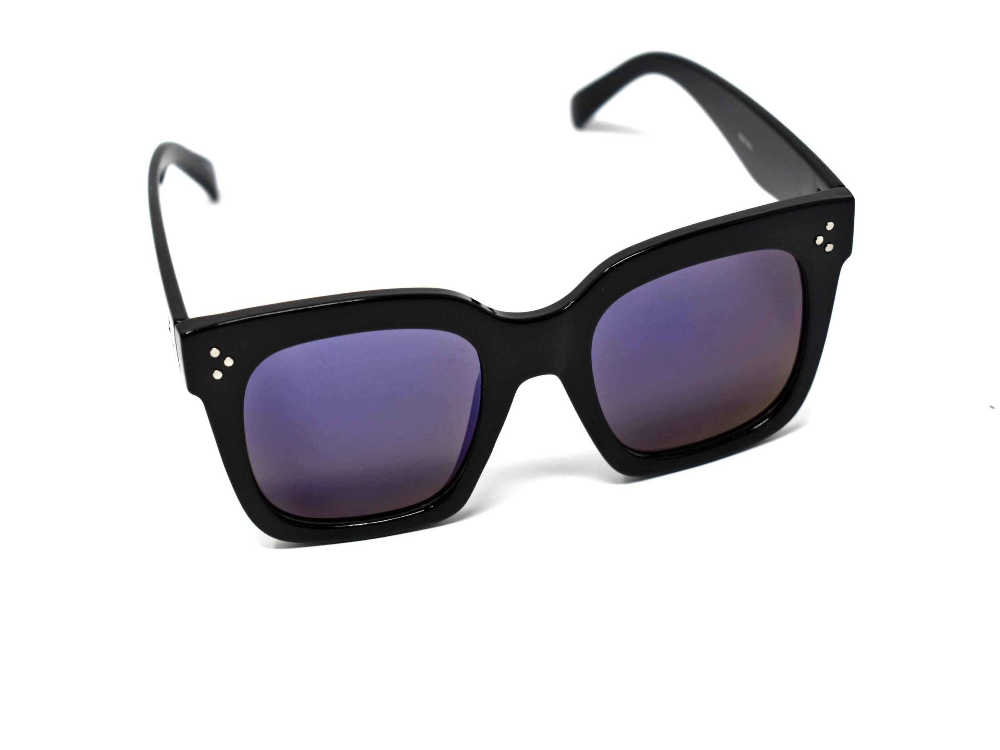 Amaranth blue mirrored Sunglasses Black