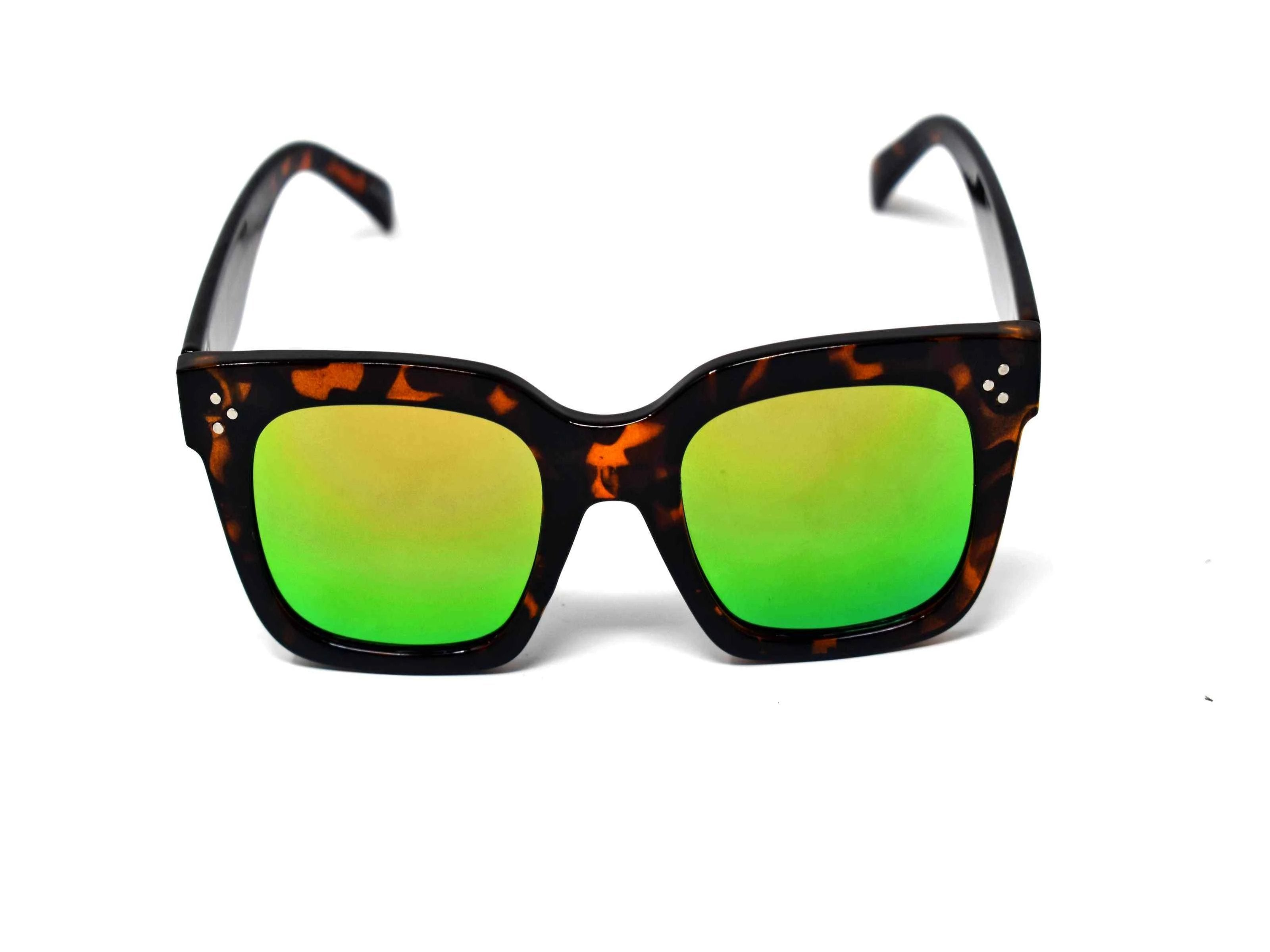 Amaranth Green And Rust Mirrored Lens Leopard
