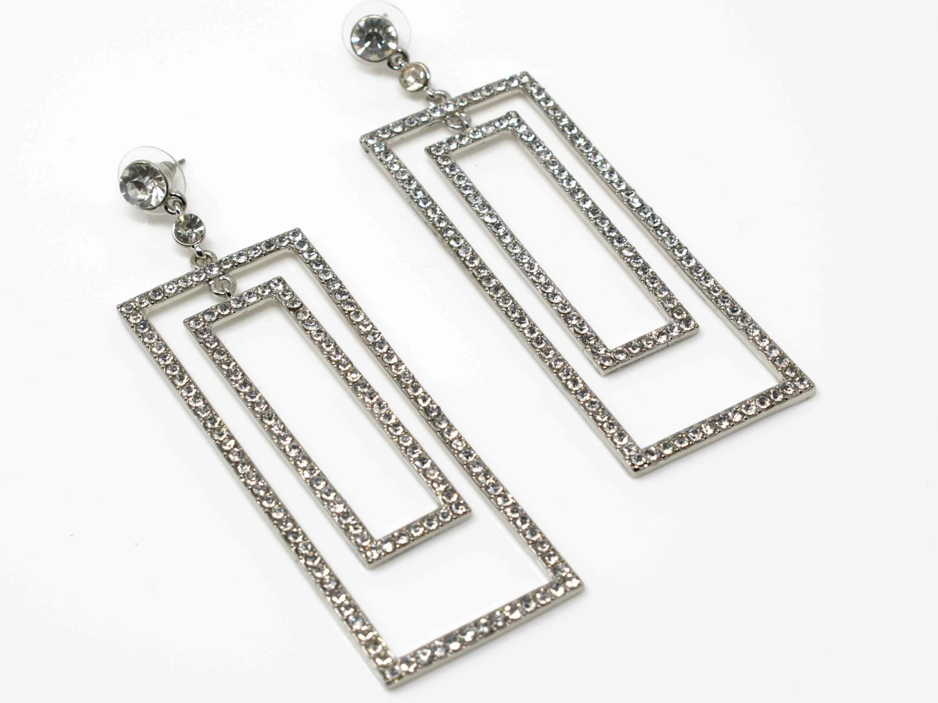 Becca Chandelier Silver Earrings