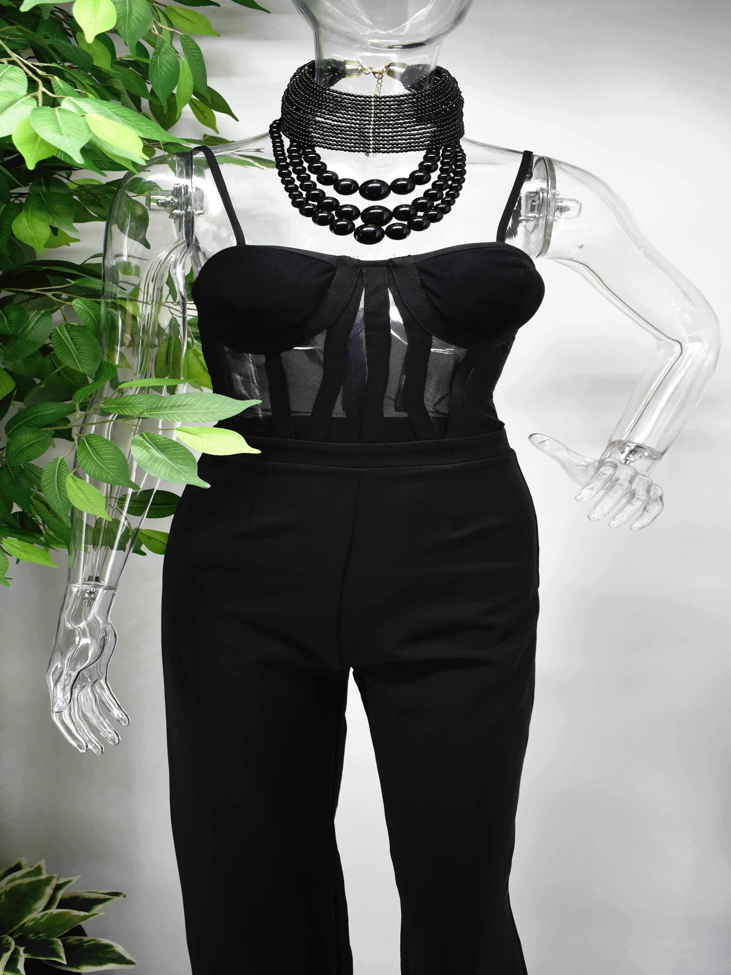 Berri Corset Top Pants Jumpsuit