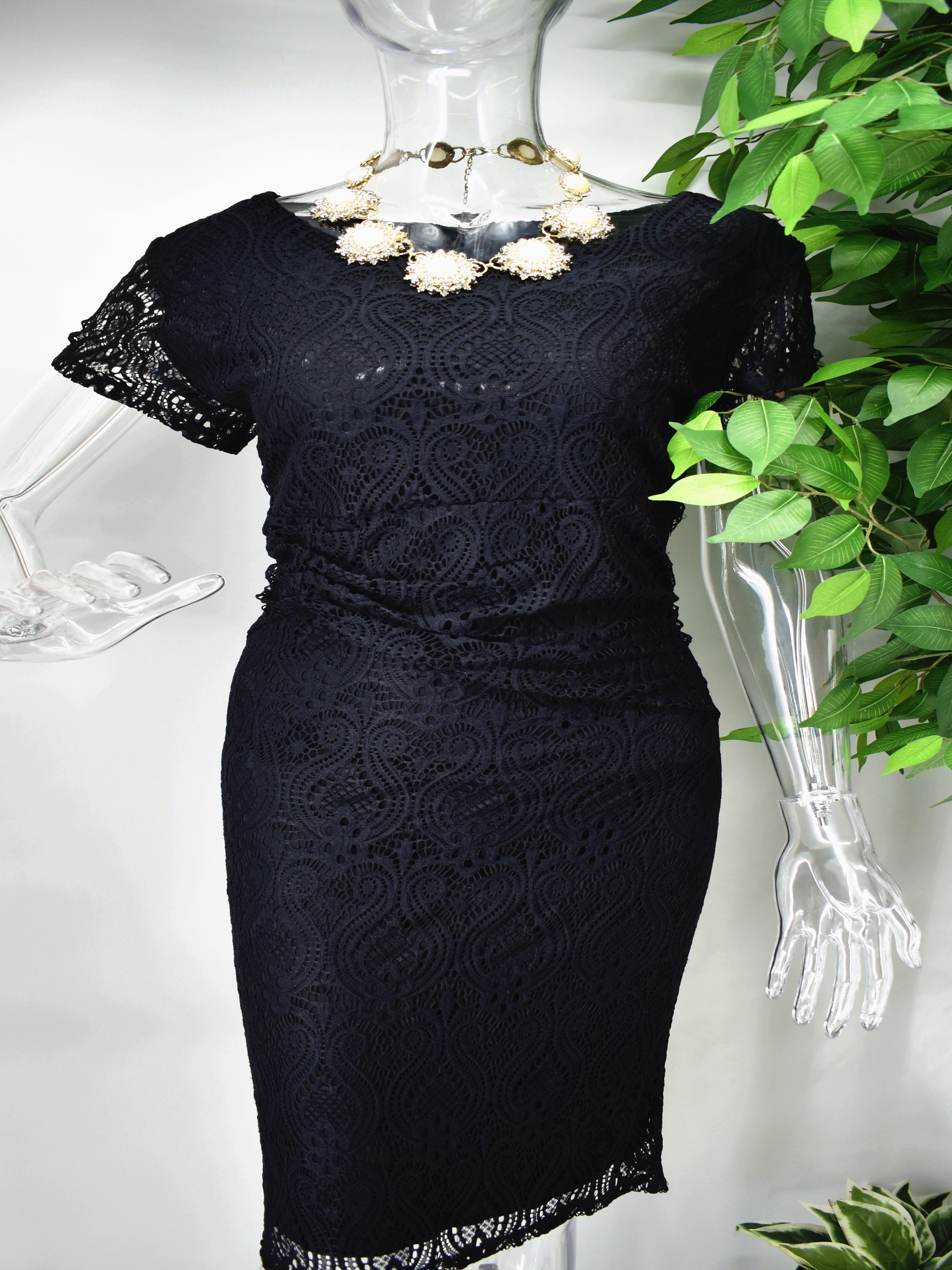 Bronnie Black Lace Dress