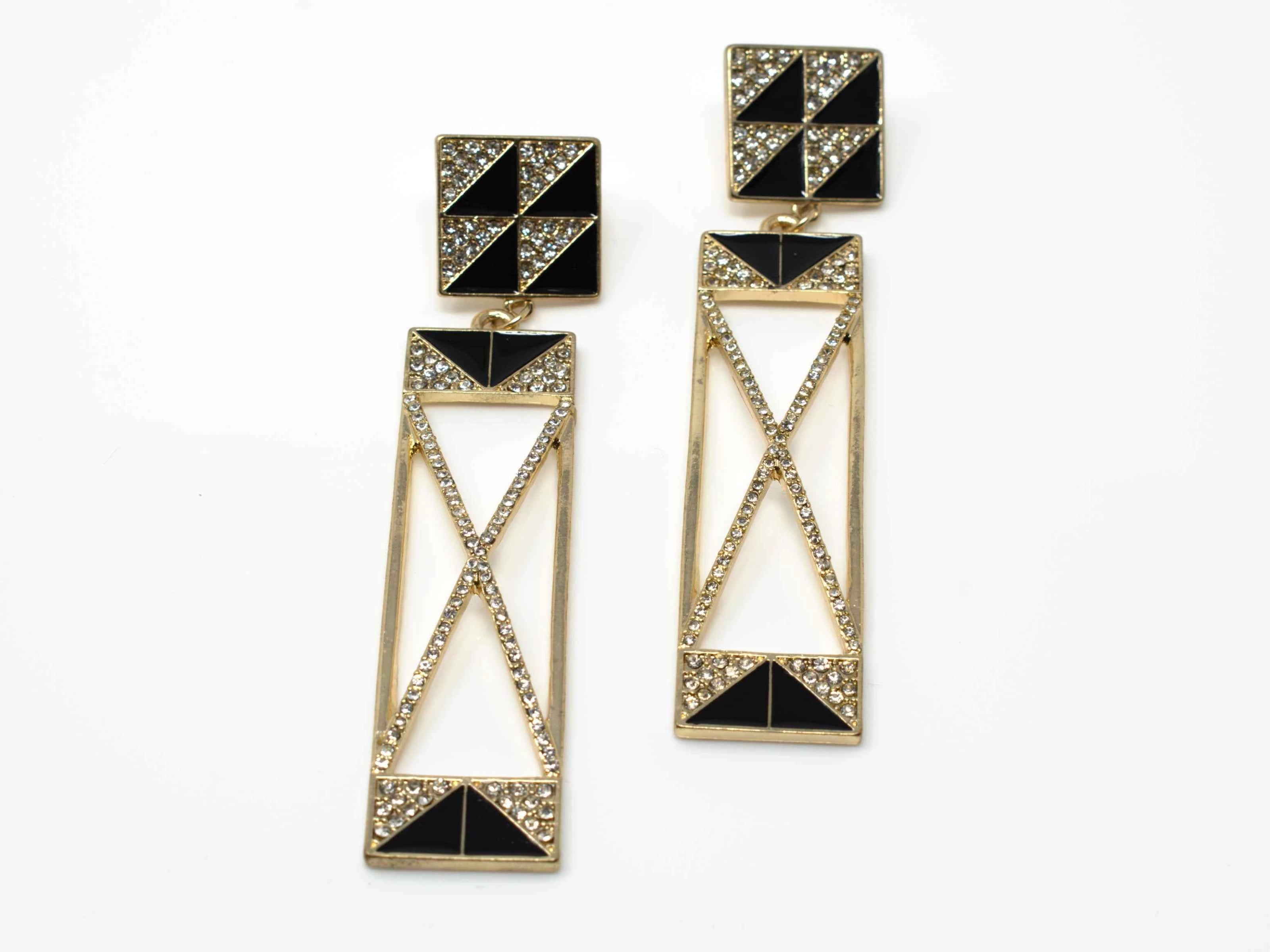 Brenda Chandelier Drop Earrings Gold