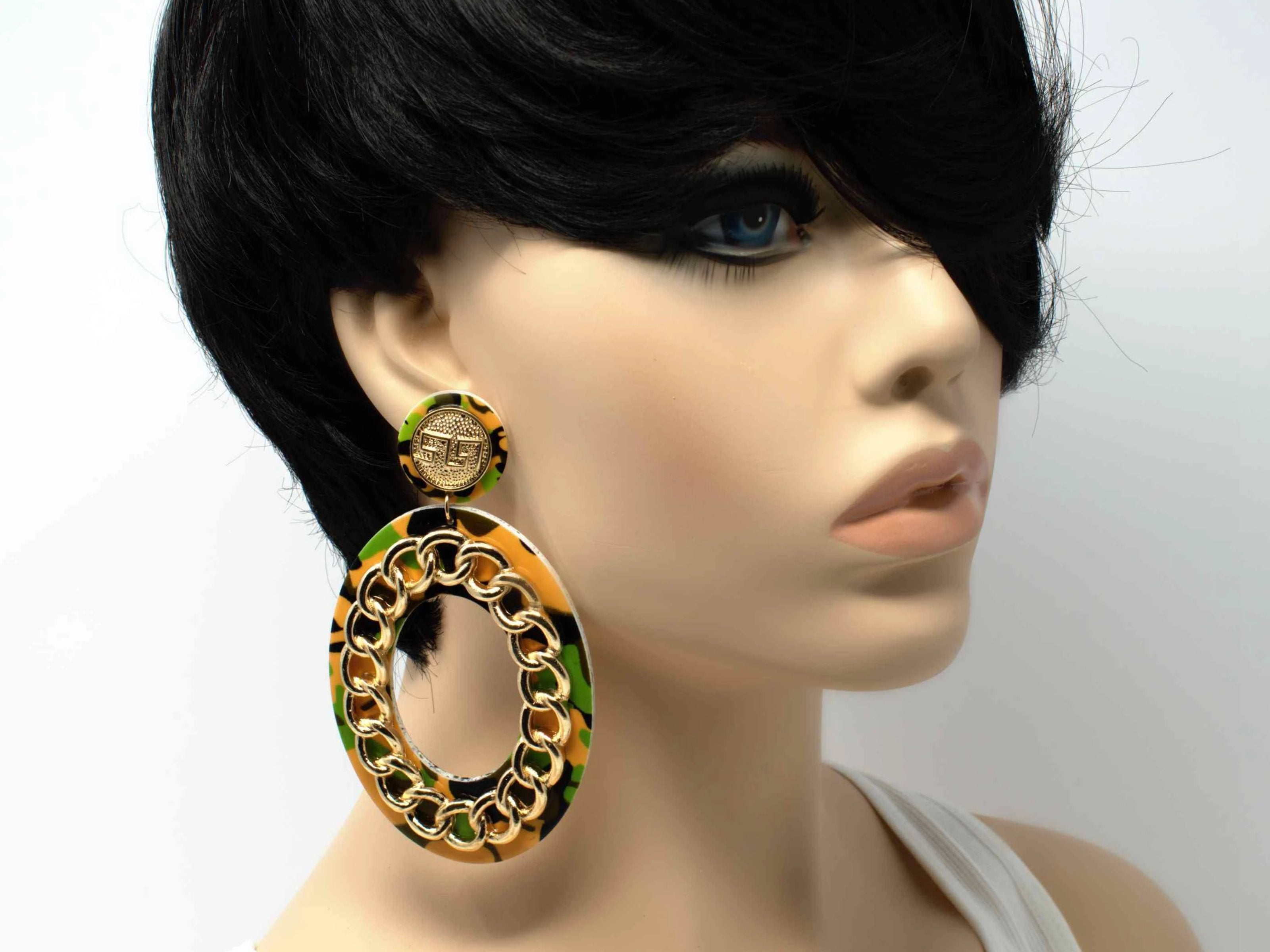 Camie Oval Statement Earrings