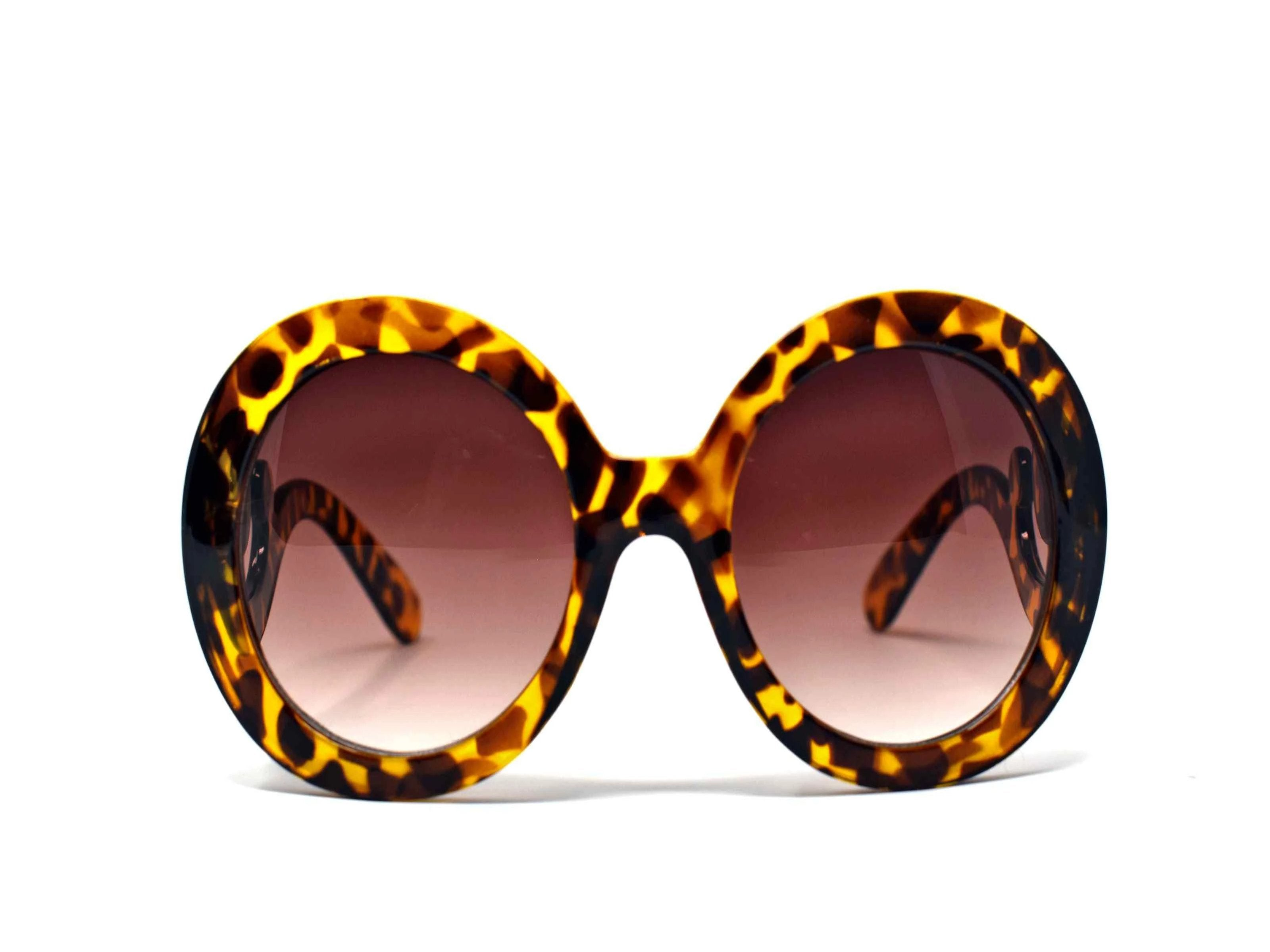 Be prepared to add our Clover leopard tortoise frame glasses with swirl handle and a brown lens to your top 10 go too favs.
