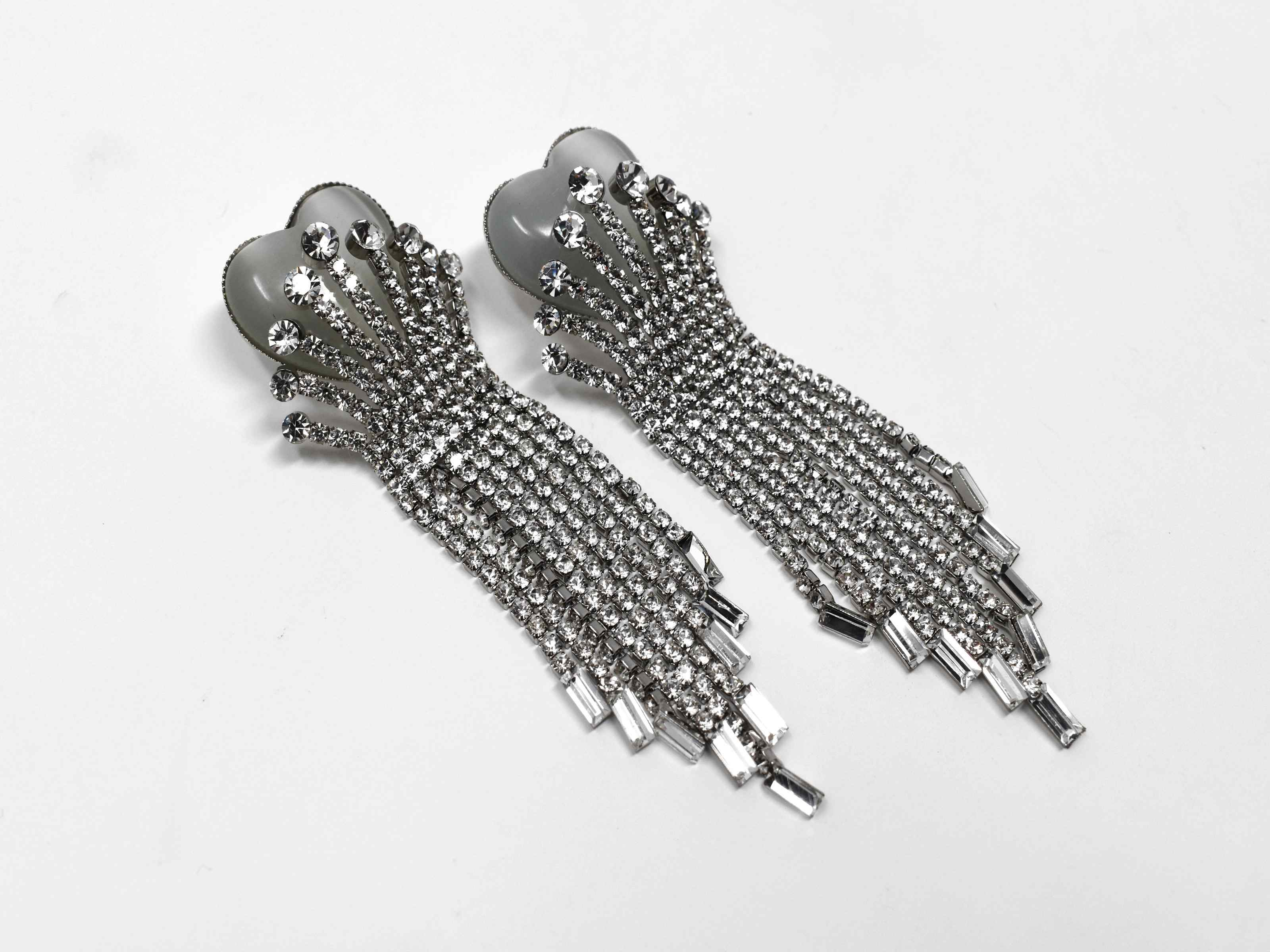 Gaillardia Silver Statement Earrings