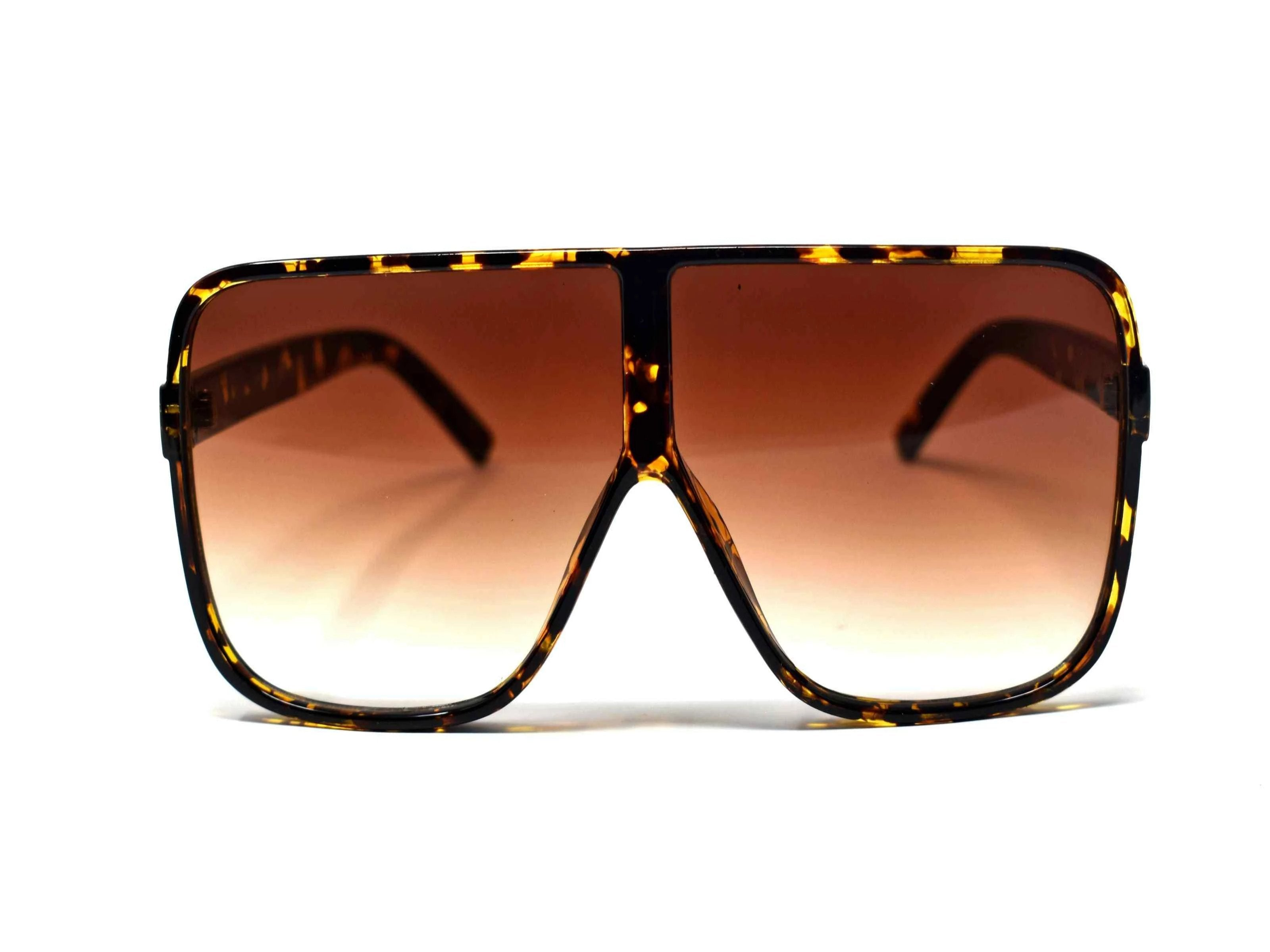 Certified stylish is what they will say once they get a glimpse of you in our oversized Gladiolus Leopard shield style glasses with a brown lens.
