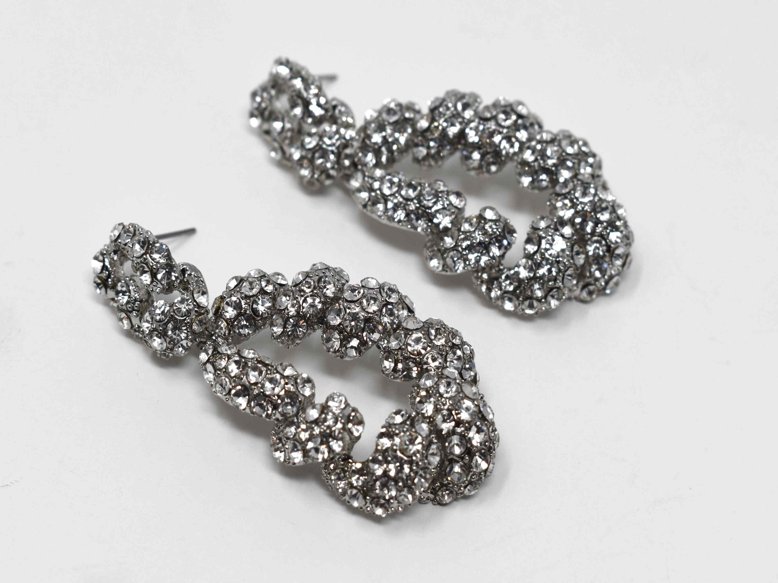 Gladiolus Silver Statement Earrings