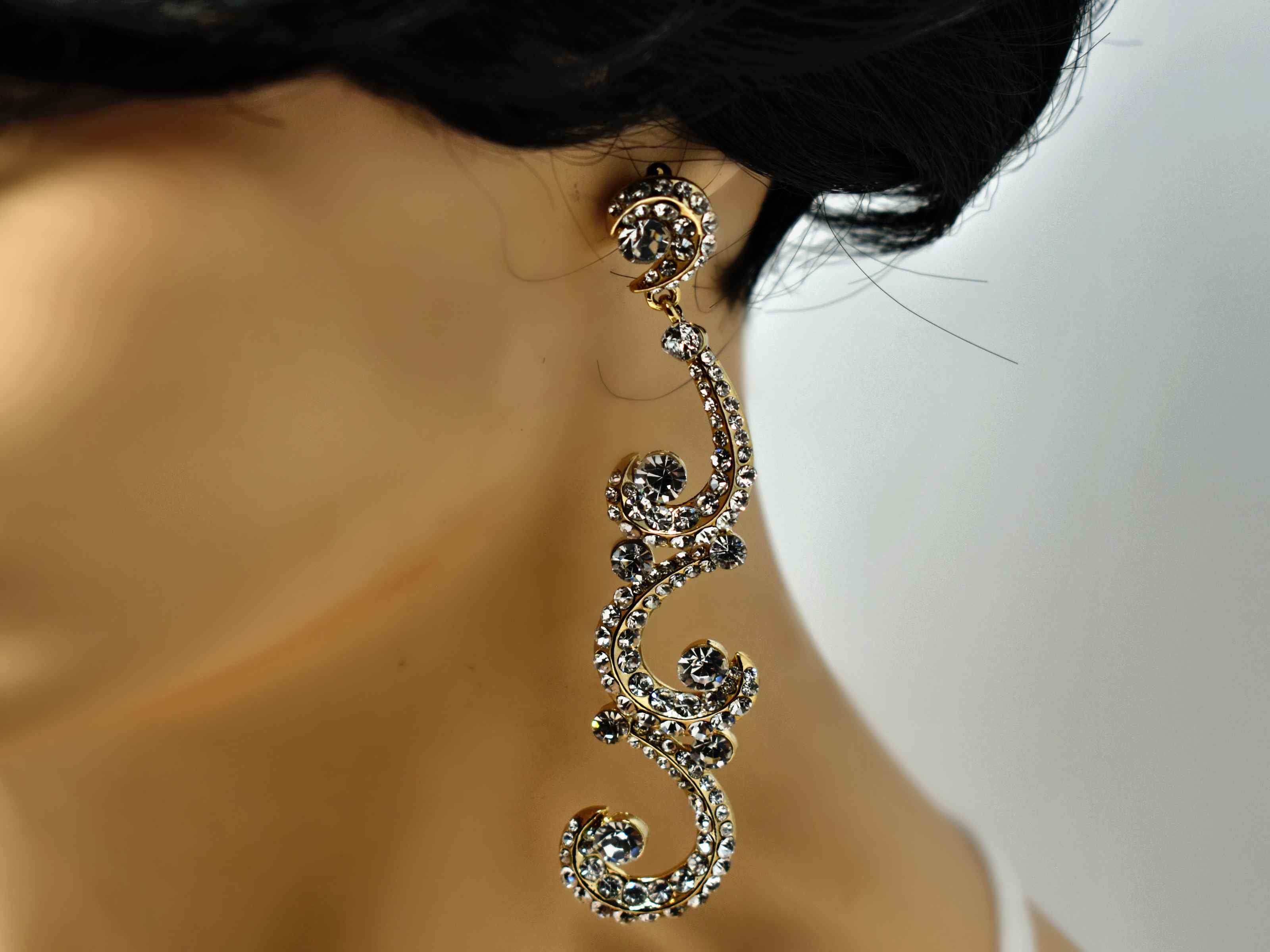 Ilex Gold Formal Earrings