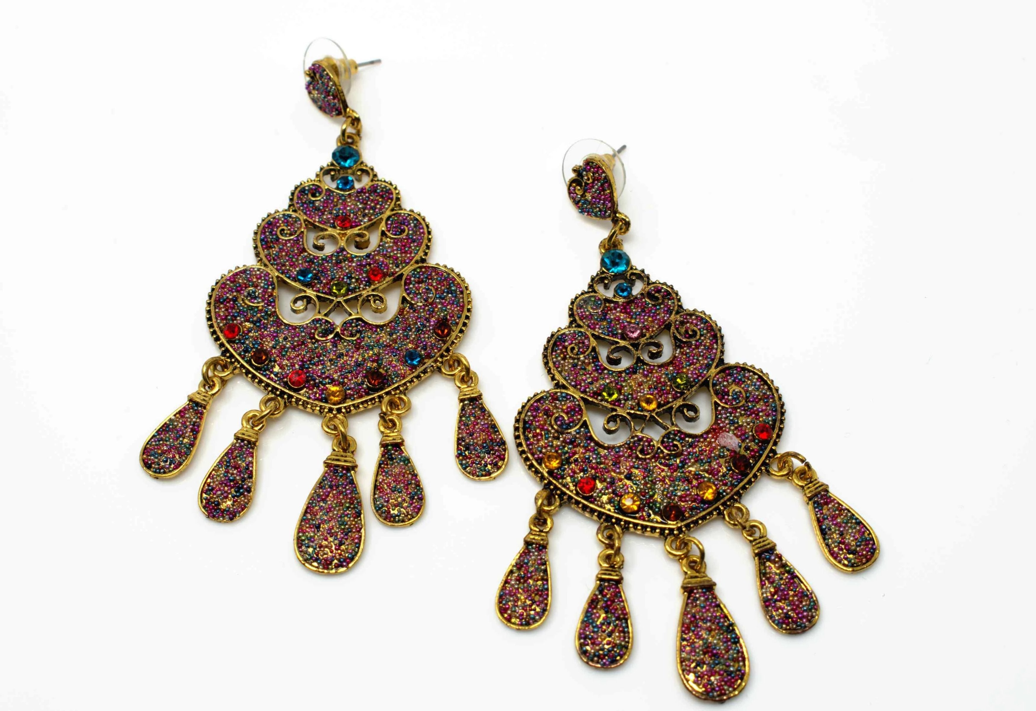 Isabella Chandelier Drop Earrings Multi