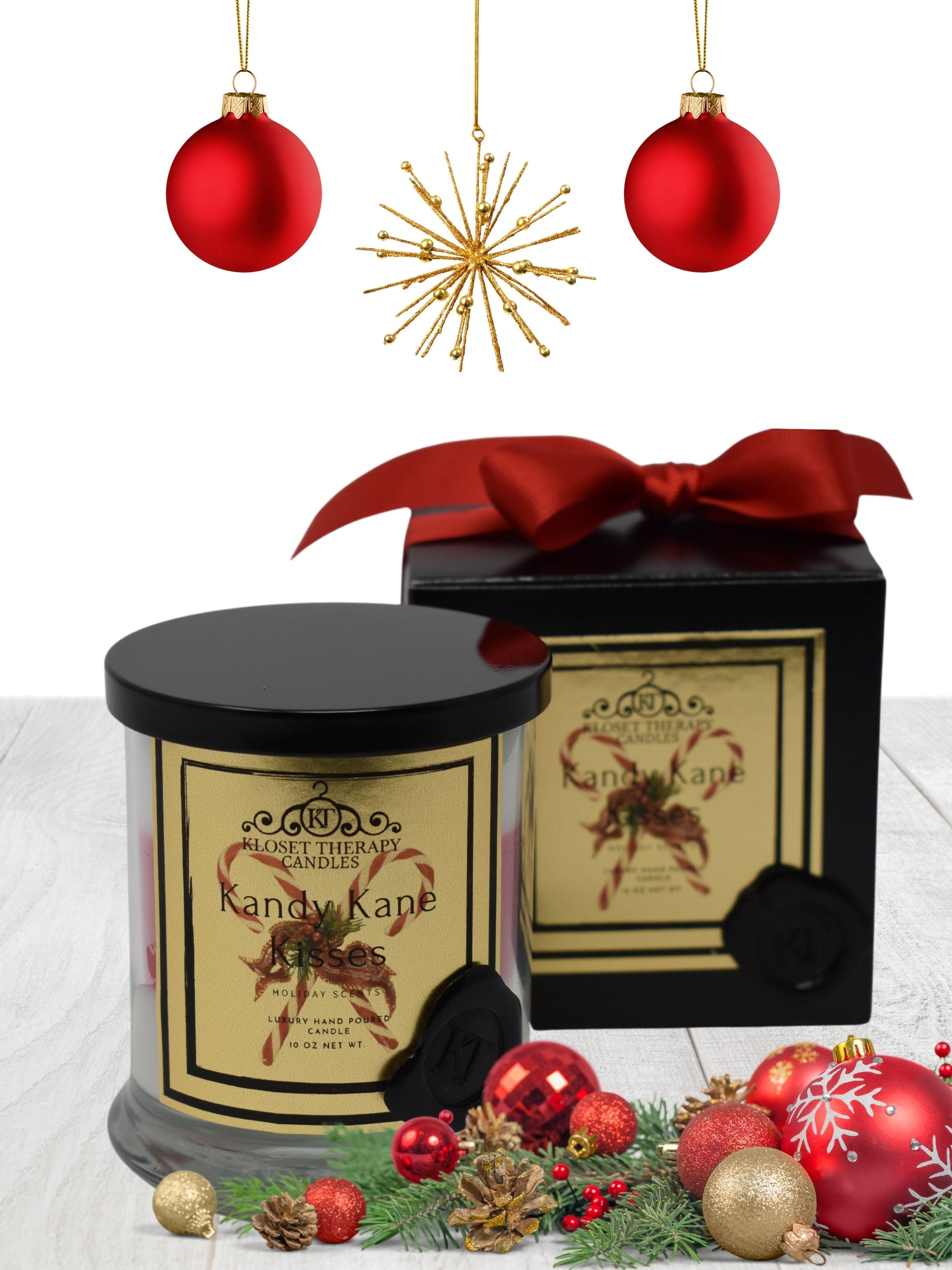 Kandy Kane Kisses 2 wick candle