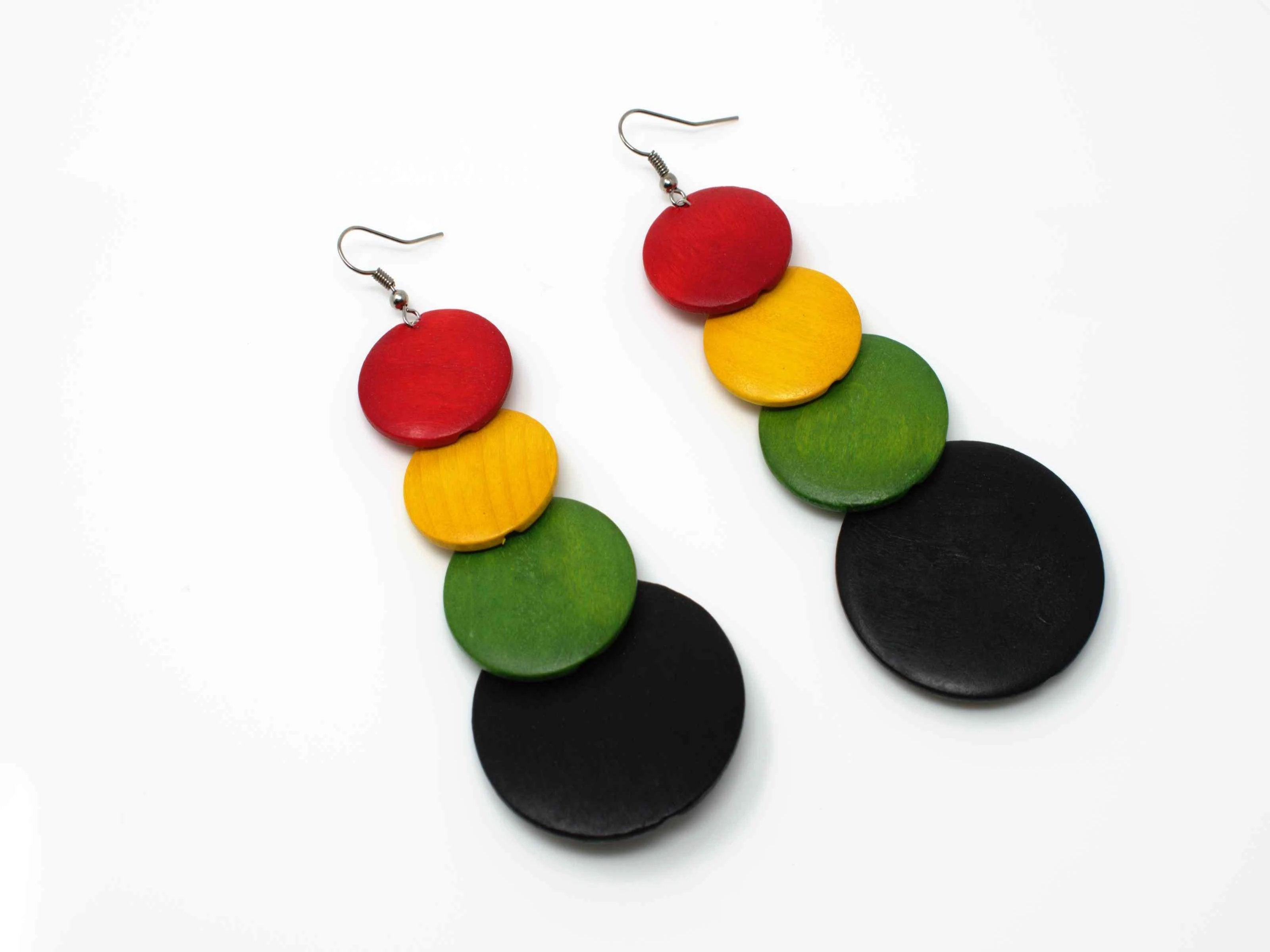 Karla Reggae Dangle Drop Earrings