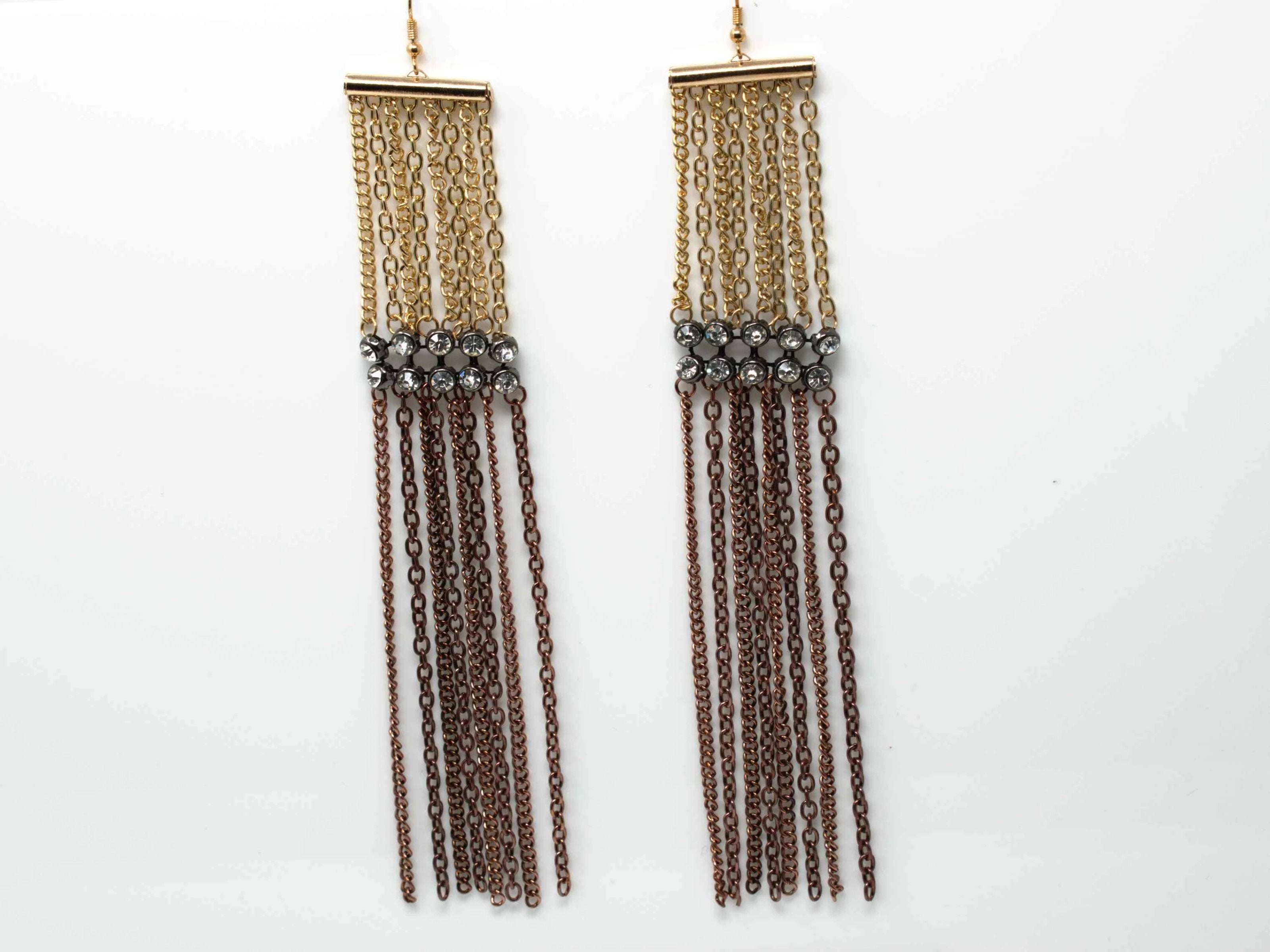 Marcia Gold and Copper Drop Earrings
