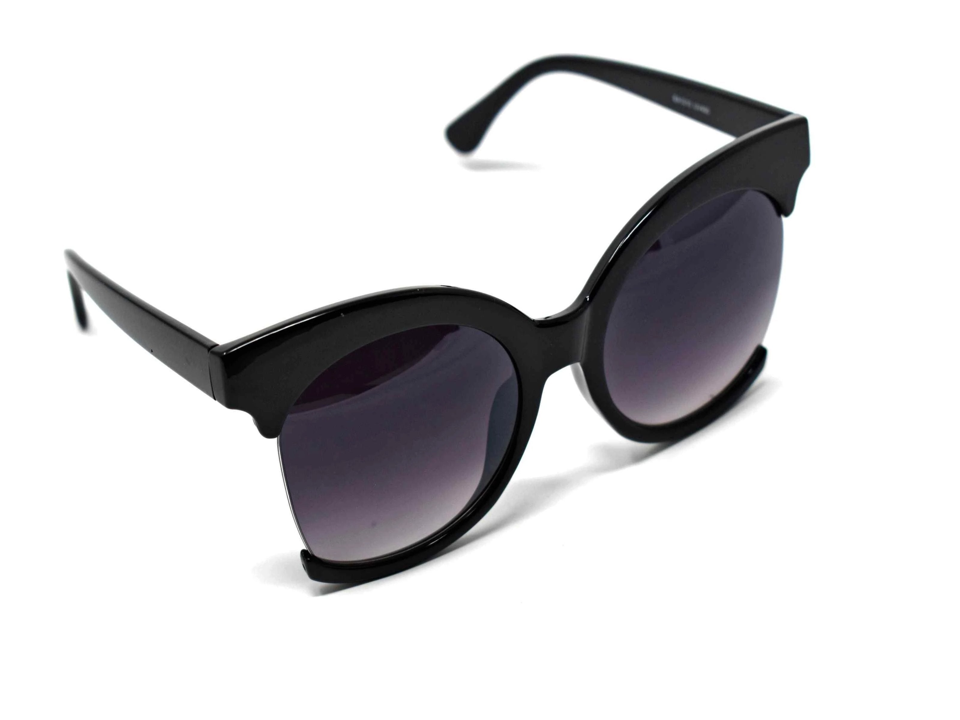 Be bold in our cutting edge primrose black cut out frames with a black lens.