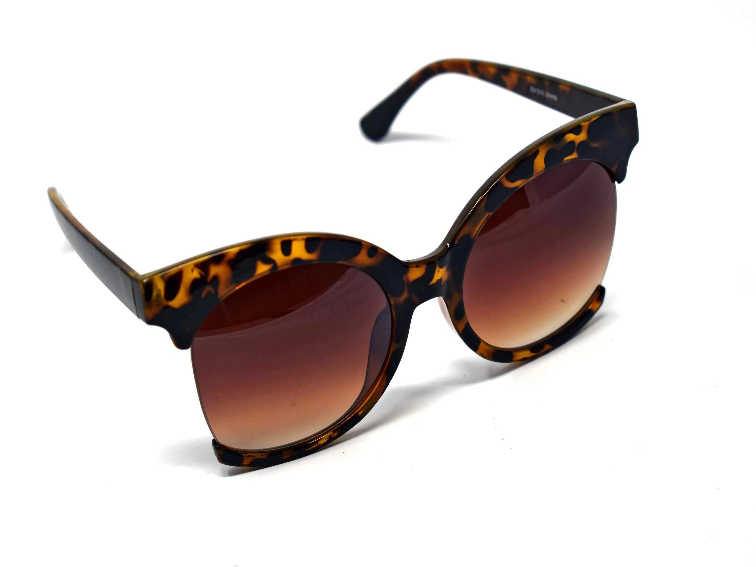 Be bold in our cutting edge primrose light leopard tortoise cut out frames with a brown lens.