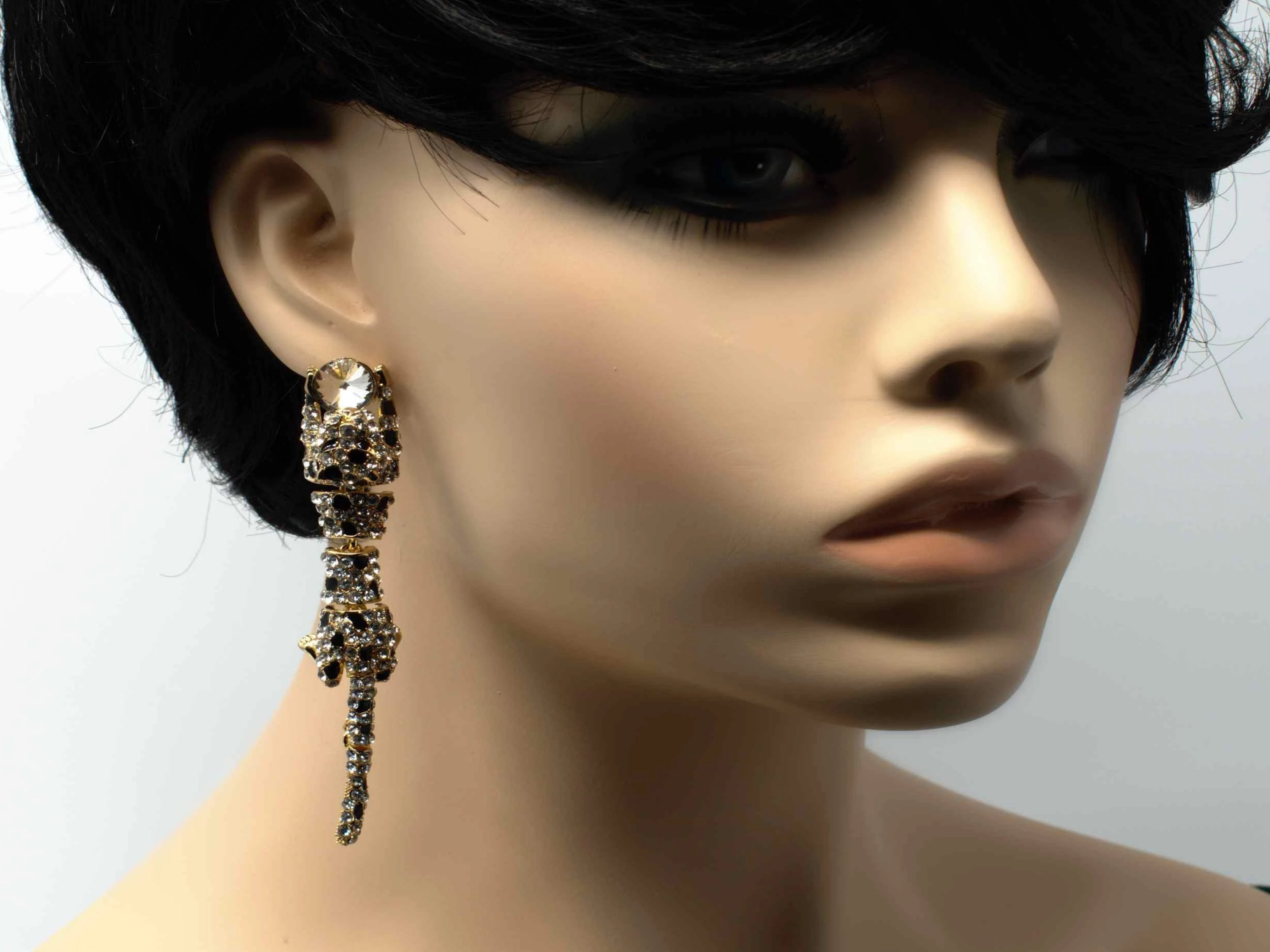 Priscilla Gold Panther Earrings