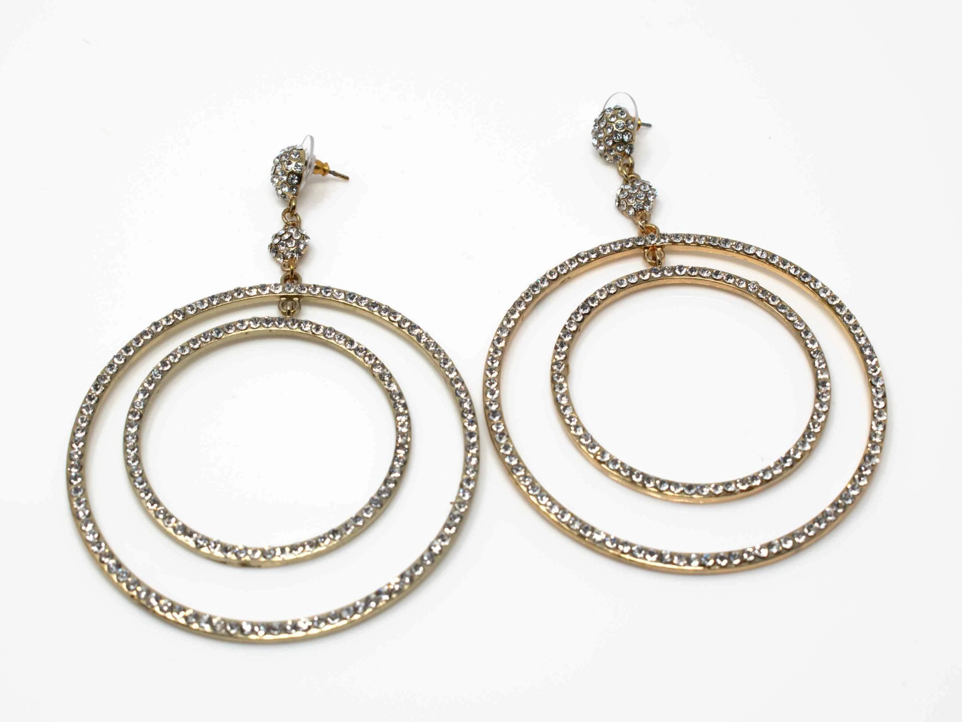 Rebecca Gold  Chandelier Earrings
