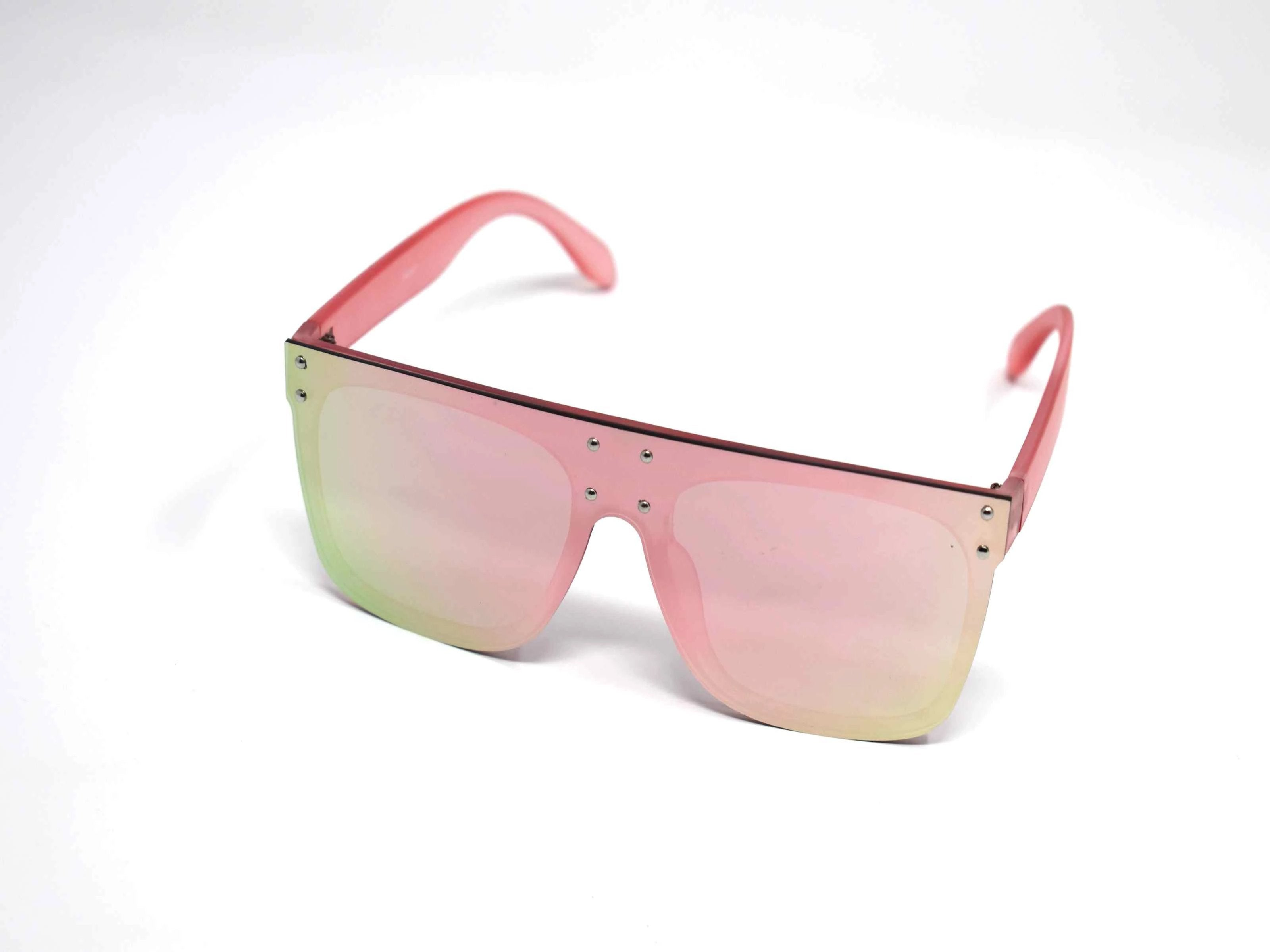 Rosa Pink Mirrored Lens Sunglasses Pink