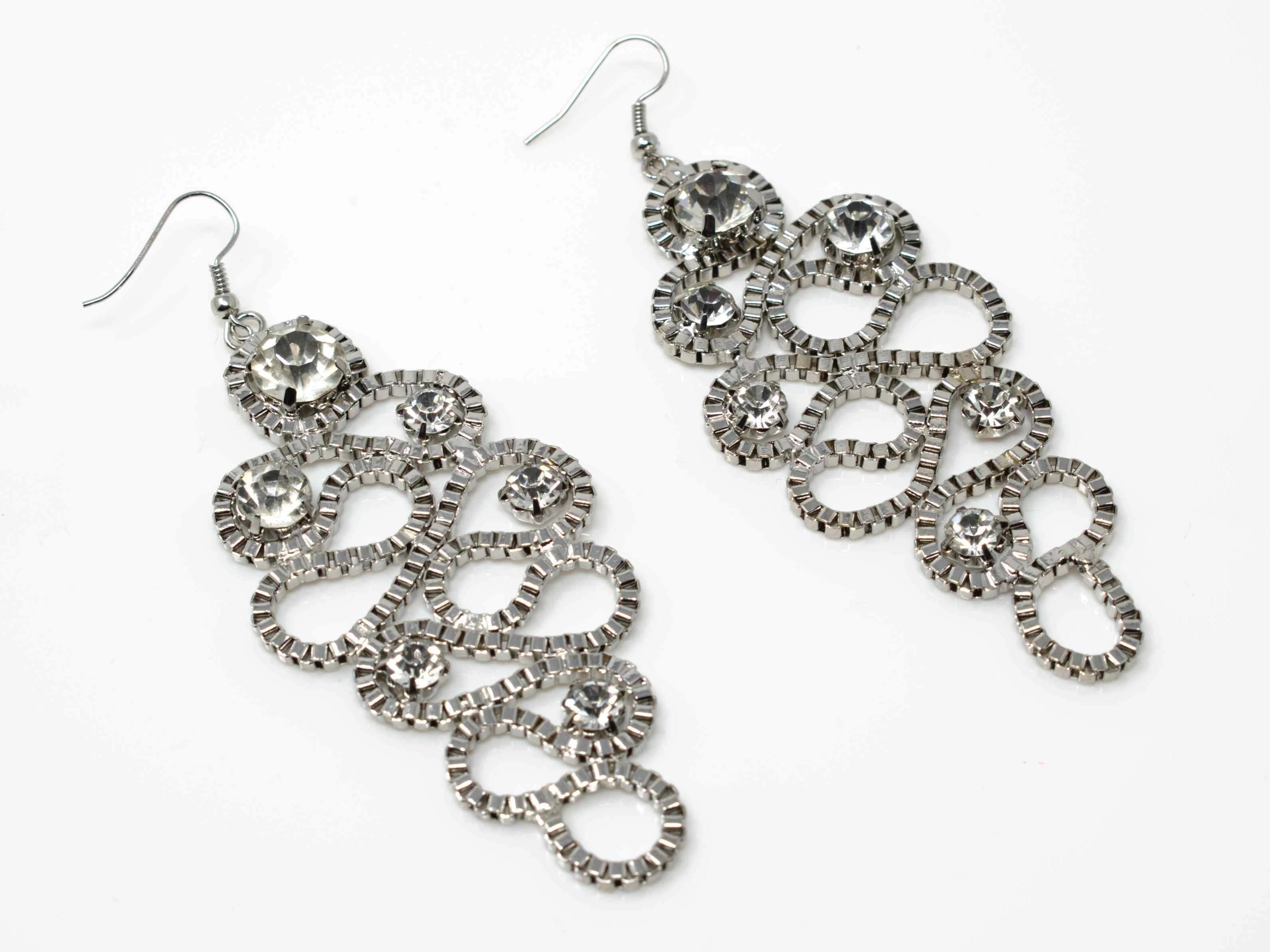 Sonia Silver Chandelier Earrings
