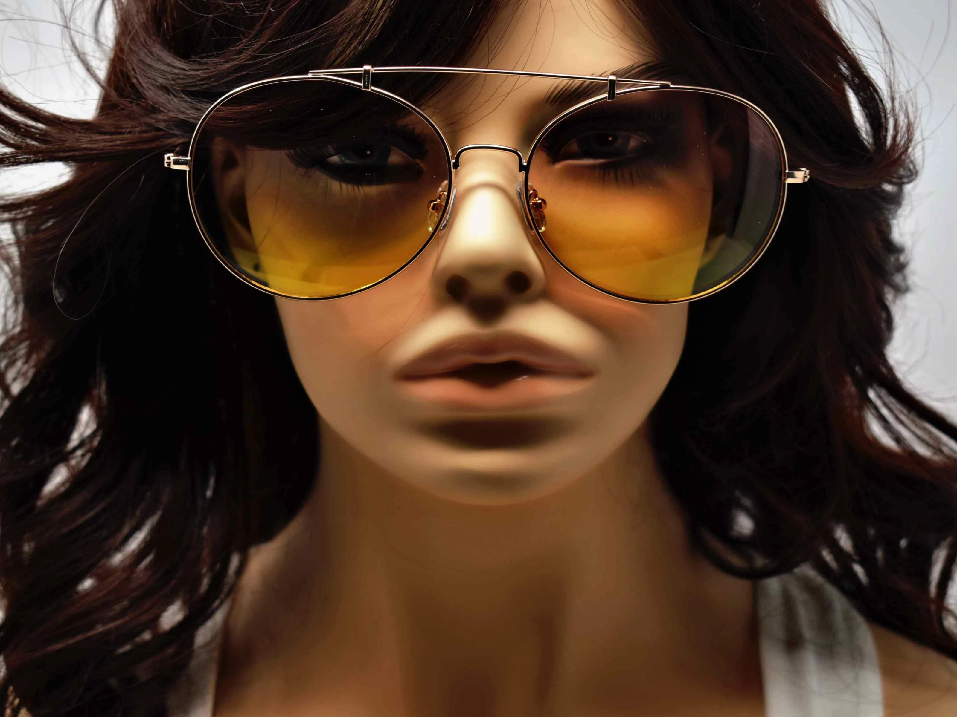 Va Va Voom will be consistently heard in these Vervain gold frame aviator orange and yellow ombre lens sunglasses.