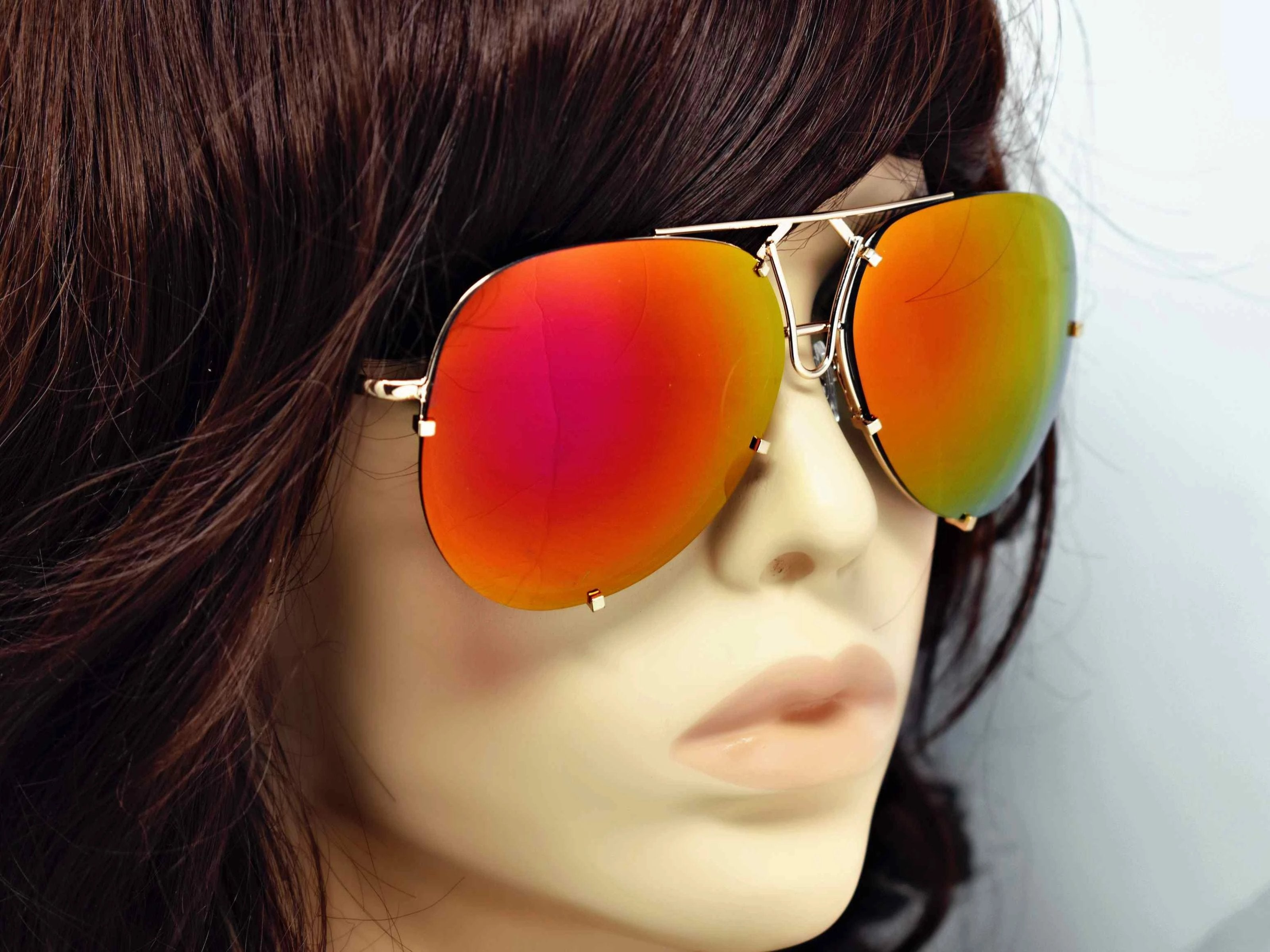 Yarrow Rose Mirrored Lens Sunglasses Gold