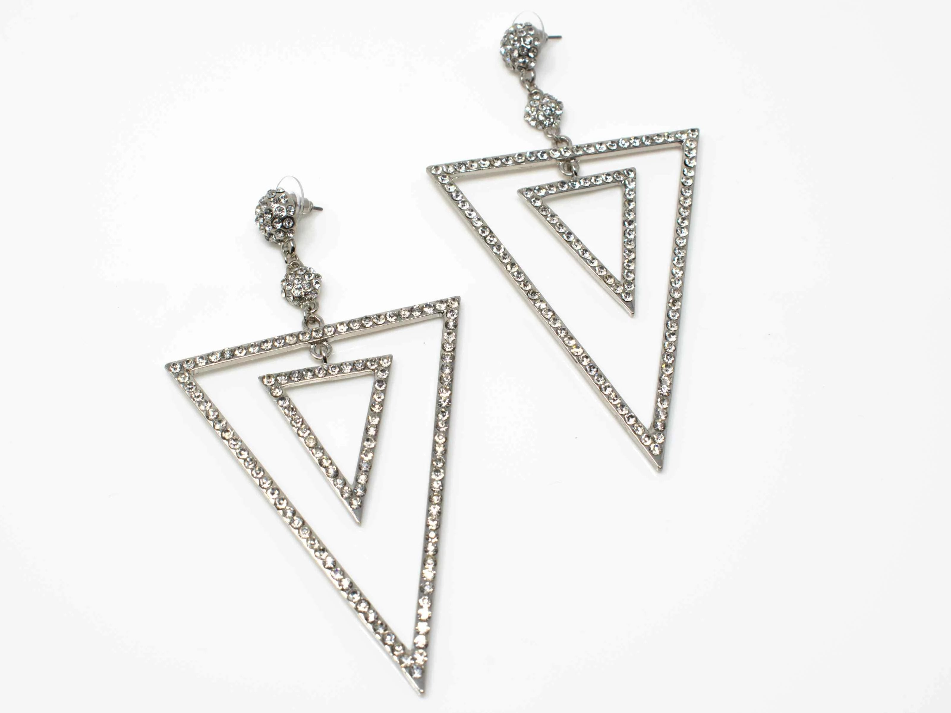 Zara Chandelier Earrings Silver