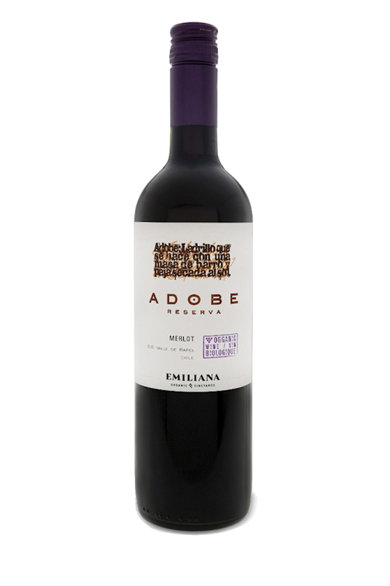 2018 Adobe Reserva Merlot Emiliana, Rapel Valley, Chile