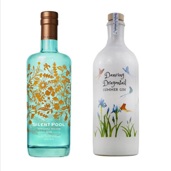 Surrey Gin Package - Silent Pool Gin 70cl & Dancing Dragontail Gin 70cl & Tonic Bundle