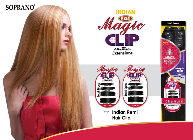 Soprano Indian Remi Magic Clip On Extensions Remi Hair Usa