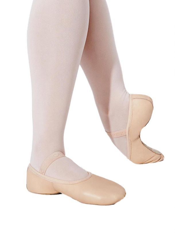CAPEZIO LILY CHILDRENS PINK LEATHER BALLET SHOE