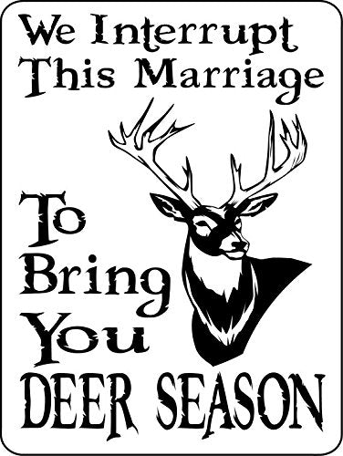 HUNTING AND FISHING DEER  ALUMINUM  SIGN 1210