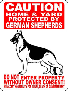 GERMAN SHEPHERD ALUMINUM SIGN 2496HGS2