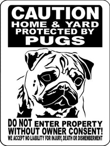 PUG ALUMINUM DOG SIGN 2496HPG