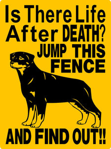 ROTTWEILER DOG SIGN 2652A