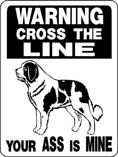 SAINT BERNARD ALUMINUM DOG SIGN V2846