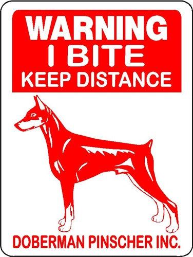 DOBERMAN PINSCHER ALUMINUM DOG SIGNS 3050