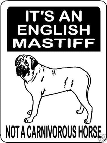 MASTIFF, BULL MASTIFF, ENGLISH MASTIFF, ALUMINUM DOG SIGN 3173