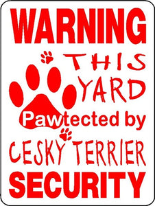 WARNING PROTECTION  ALUMINUM DOG SIGNS 3227