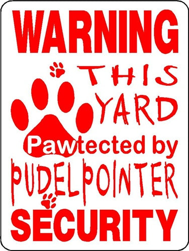 WARNING PROTECTION  ALUMINUM DOG SIGNS 3260