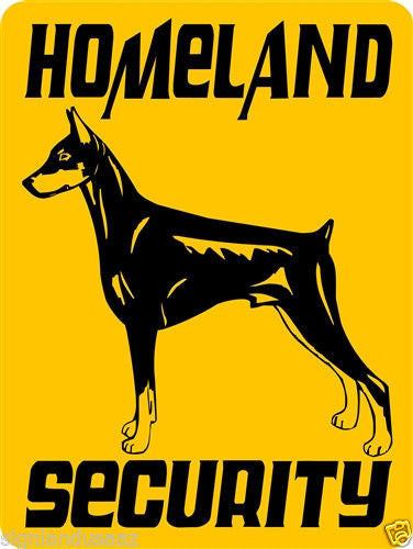 DOBERMAN PINSCHER ALUMINUM DOG SIGNS 3270