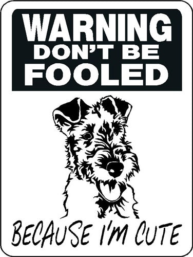 WIRED HAIR FOX TERRIER ALUMINUM DOG SIGN 3351