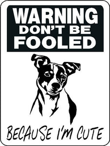 JACK RUSSELL TERRIER ALUMINUM DOG SIGN 3361