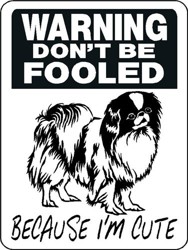 JAPANESE CHIN ALUMINUM DOG SIGN 3362