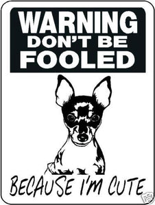 FOX TERRIER ALUMINUM DOG SIGN 3380