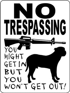 PRESA CANARIO  ALUMINUM DOG SIGNS 3388PC