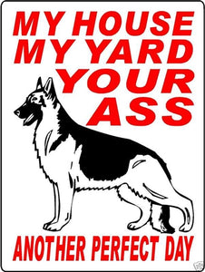 GERMAN SHEPHERD ALUMINUM SIGN 3389GSATT