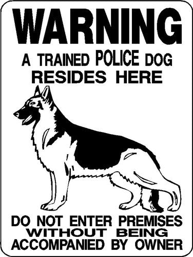 GERMAN SHEPHERD DOG SIGN 3391